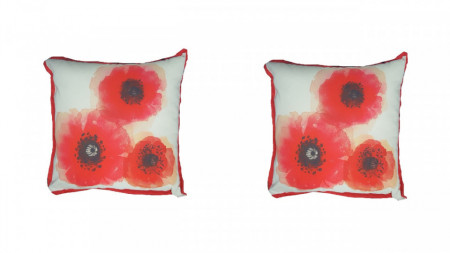 Set 2 perne decorative premium, 43 x 43 cm, maci, husa detasabila, George Home