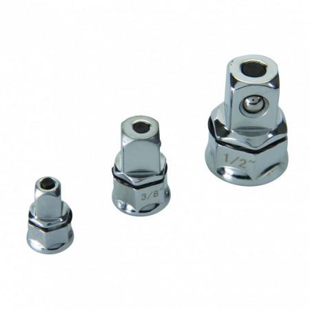 Set adaptor cheie inelara la cheie cu clichet 3 piese , Silverline atchet Spanner Adaptor Set 3pce