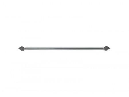 Suport perdea mini, expandabil, 60 - 80 cm, 10mm, metal, argintiu, Rido Deko