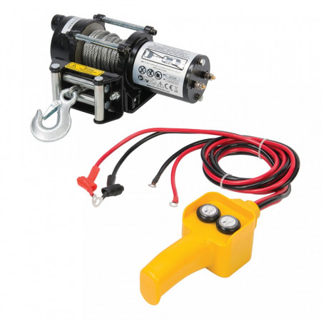 Troliu , vinci electric 12V 2000lb 910Kg Silverline winch