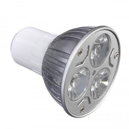 Bec spot led, 3W, 3 x 1W, 3 led-uri, soclu E17, 220V, lumina rece, VKTools