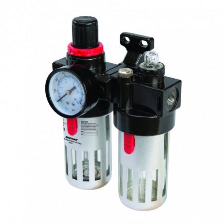 Filtru aer regulator & lubricator , decantor , 10 bar , 150ml , Silverline Air Filter Regulator & Lubricator