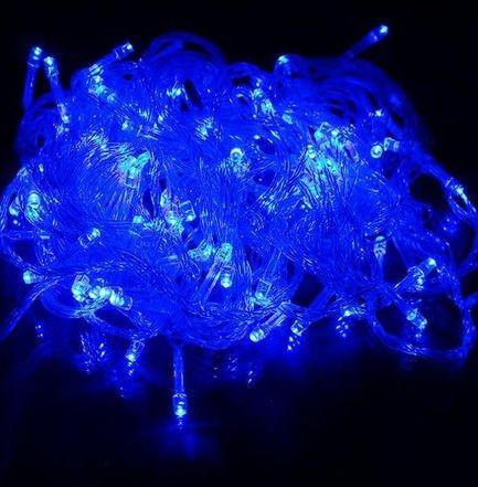 Instalatie brad Craciun , 200 led-uri, 15m, lumina albastra, 220v, VKTools