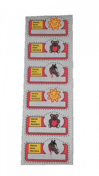Petic textil, patch brodat , 190 x 68mm, aplicare la cald, Wenco