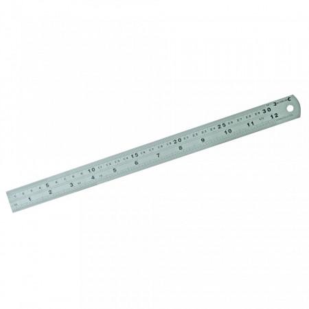 Rigla din otel cu gradatii 300mm Silverline Steel Rule