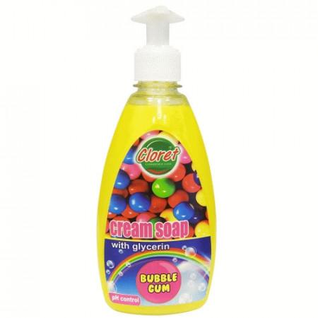 Sapun lichid, 500ml cu dispenser manual, Bubble Gum, cu glicerina, PH - control, Cloret