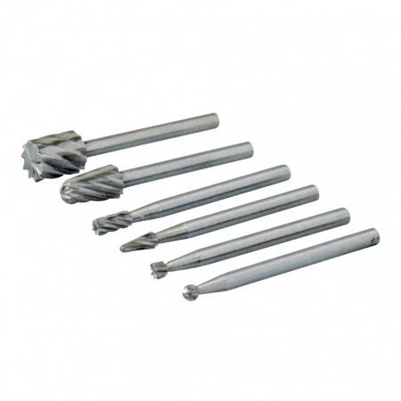 Set 6 piese mini freze pentru biax , Silverline Rotary Tool HSS Burr Set 6pce