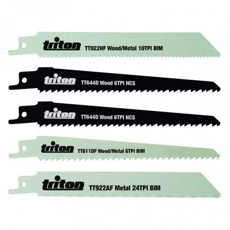 Set de lame pentru fierăstrău vertical 150mm  , 5 piese , Silverline Recip Saw Blade Set 5pce