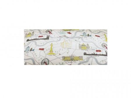 Set lenjerie de pat 2 piese, 1 husa perna, 1 husa pilota, London Map, single, 200cmx135 xm, George Home