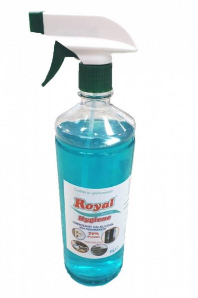 Solutie igienizanta pe baza de alcool, minim 70% , profesional ,multisuprafete,pulverizator, 1L, Royal Hygiene