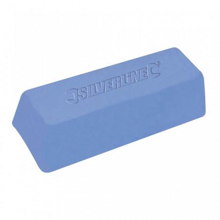 Baton ceara polisat metale, 500 gr, albastru, grit mic, plastic si metale, Silverline