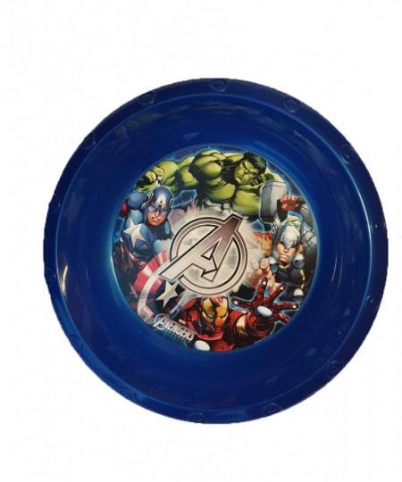 Farfurie adanca copii, plastic,  165 mm, Avengers, Marvel