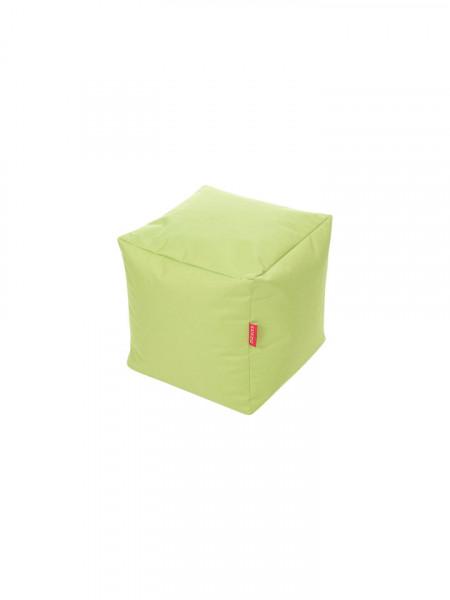 Fotoliu taburet cub premium, exterior rezistent la ardere, 43 x 43 x 43cm, verde, interior perle polistiren, KAIKOO