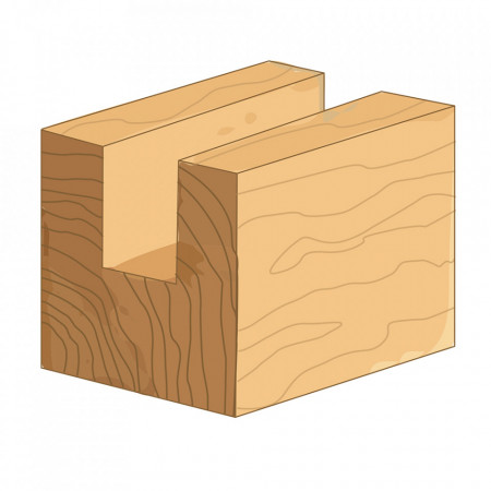 Freza lemn canelat, 20 x 20 mm, Silverline