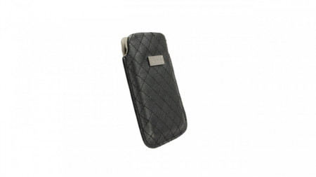 Husa universala telefon, vinil/textil negru, 111.50 x 72mm, Krusell