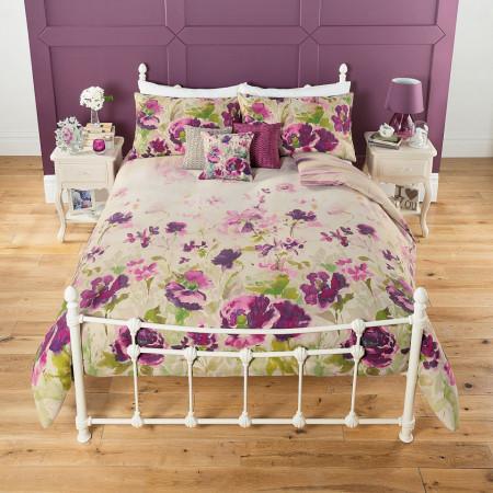 Lenjerie de pat ,1 plic pilota, 2 fete perna, 2 persoane, 200 x 200cm, 48 x 74cm, double, floral, George Home