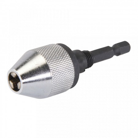 Mandrina adaptor hex - rotund, 5.5mm, 1/4 hex, Silverline