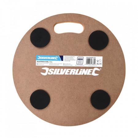 Platforma universal rotunda cu roti, 250kg, 380mm, Silverline