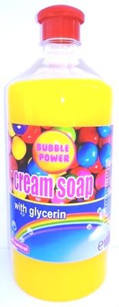 Sapun lichid, rezerva 1000ml, capac cu picurator, Bubble Gum, cu glicerina, PH - control, Cloret