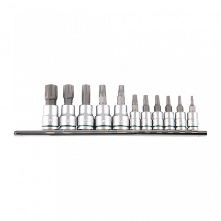 Set 11 chei profesionale tip Torx, otel S2 , cu suport, Kincrome