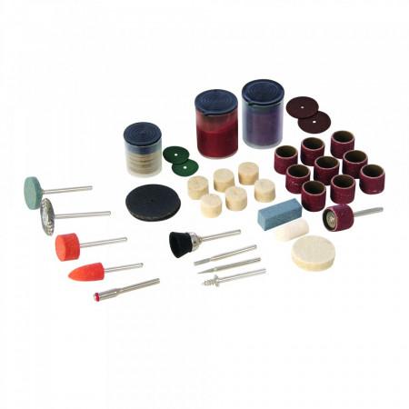 Set accesorii pentru biax 105 piese , taiat si slefuit , Silverline Rotary Tool Accessory Kit 105pce