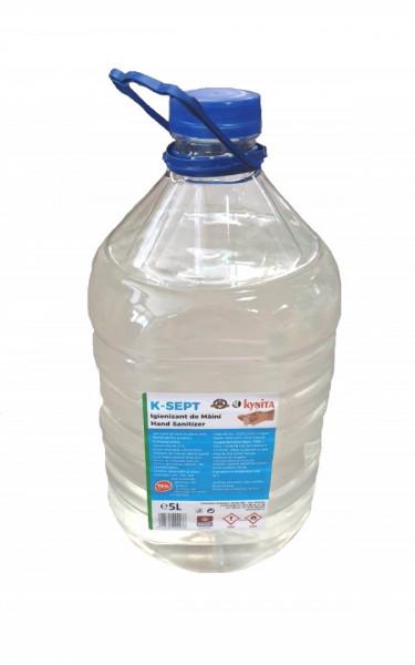 Solutie lichida alcoolica igienizanta maini, 5L, 75% alcool, glicerina, Kynita