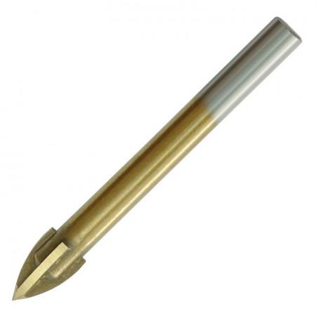 Burghiu multifunctional 4mm, 4 muchii, lemn, ceramica, piatra, metal, plastic, Dedra