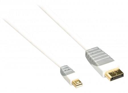 Cablu profesional mini display port mini - display port , 3 m, mufe placate aur 24K, Bandridge