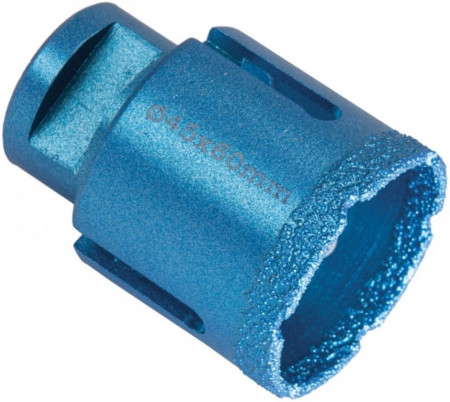 Carota diamantata pentru gaurire placi de ceramice, granit, marmura diametru 45mm x 60mm, filet M14