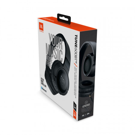 Casti audio On-ear JBL Tune 600, Active Noise Cancelling, Wireless, Bluetooth, Pure Bass Sound, Hands-free Call, 22H, Negru