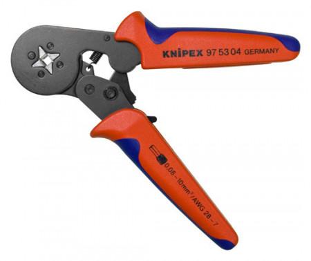 Cleste profesional pentru sertizat ferule cu autoreglare, 0.08 - 10 + 16 mm2, 180 mm, Knipex