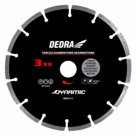 Disc diamantat , 300 x 25.4mm , taie caramida , piatra , beton , Dedra