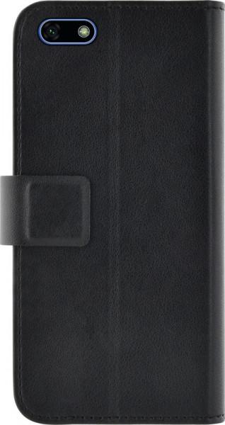 Husa de protectie tip carte, inchidere magnetica, buzunare carduri/bani, Huawei Y5 2018, Azuri