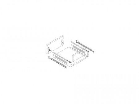 Kit sertar metalic, alb, 50 x 11.8cm, F.F. Group