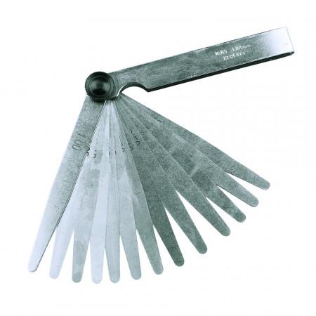 Lera milimetrica , dispozitiv de măsurare , 13 lere 0.05 – 1.0mm , Silverline Feeler Gauge