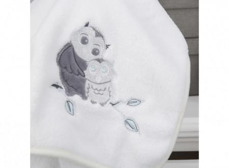 Paturica pufoasa fleece premium, 90x70cm, bufnita, CuddleCo