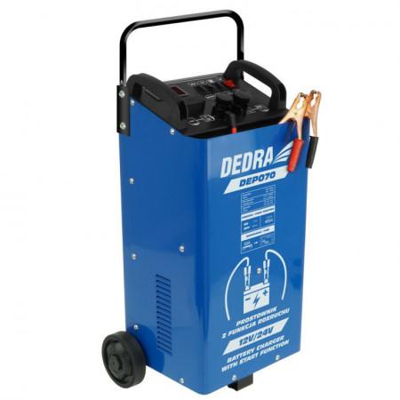 Redresor baterie auto cu functie pornire, 12/24V, 40-400Ah, Dedra