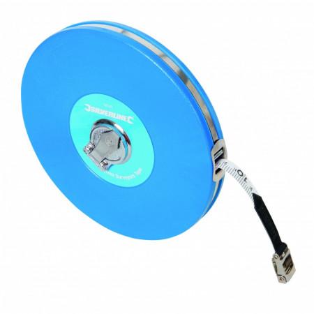 Ruleta 50M , carcasa din plastic dur , Silverline Fibreglass Surveyors Tape