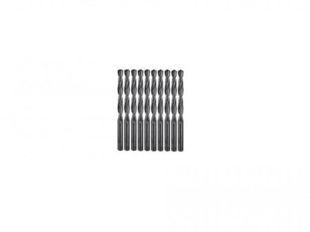 Set 10 burghie precizie perforat metal, HSS, DIN338, 1.0mm x 34mm, Dedra
