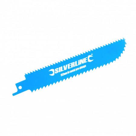Set 3 buc , lama cu tais fata-verso pentru fierastrau vertical tip sabie , Silverline Double-Sided Recip Saw Blade for Wood 3pk