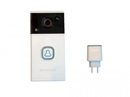 Sonerie inteligenta cu video interfon, Android / iOS, 720p, Wi-Fi, inregistrare, poza, senzor miscare, SilverCrest