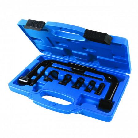 Trusa 10 piese pentru instalarea și scoaterea supapelor din motor, 16 - 30mm, Silverline Valve Spring Compressor Tool Set 10pce