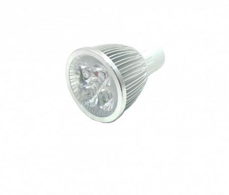 Bec spot led, 5W, 5 x 1W, 5 led-uri, soclu gu 5.3, radiator aluminiu, 220V, lumina rece, VKTools