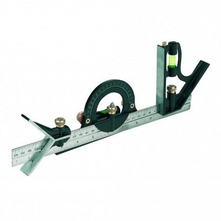 Compas universal cu boloboc si linie , 300 mm, Silverline Combination Square Set