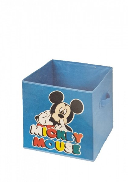 Cutie depozitare fara capac, Mickey Mouse, 32x32x32 cm, Disney