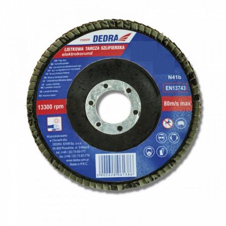 Disc evantai pentru slefuit , 125 x 22.2 mm , granulatie 80 , DEDRA