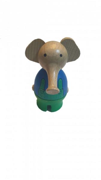 Figurina lemn ecologic, elefant, 80 x 40mm, Sigikid