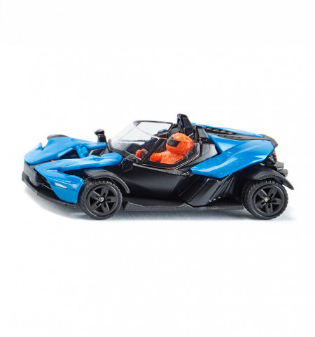 Macheta metalica KTM X-BOW GT, albastru, 7 cm, roti cauciuc, Siku