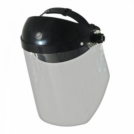 Masca protectie fata cu viziera transparenta , Flip-up , prindere clichet , Dedra 24 cm