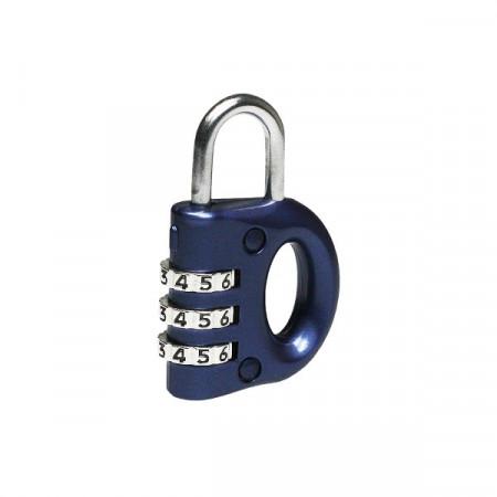 Mini lacat pentru bagaje cu cifru, Masterlock, 633EURD, corp de 30mm, albastru
